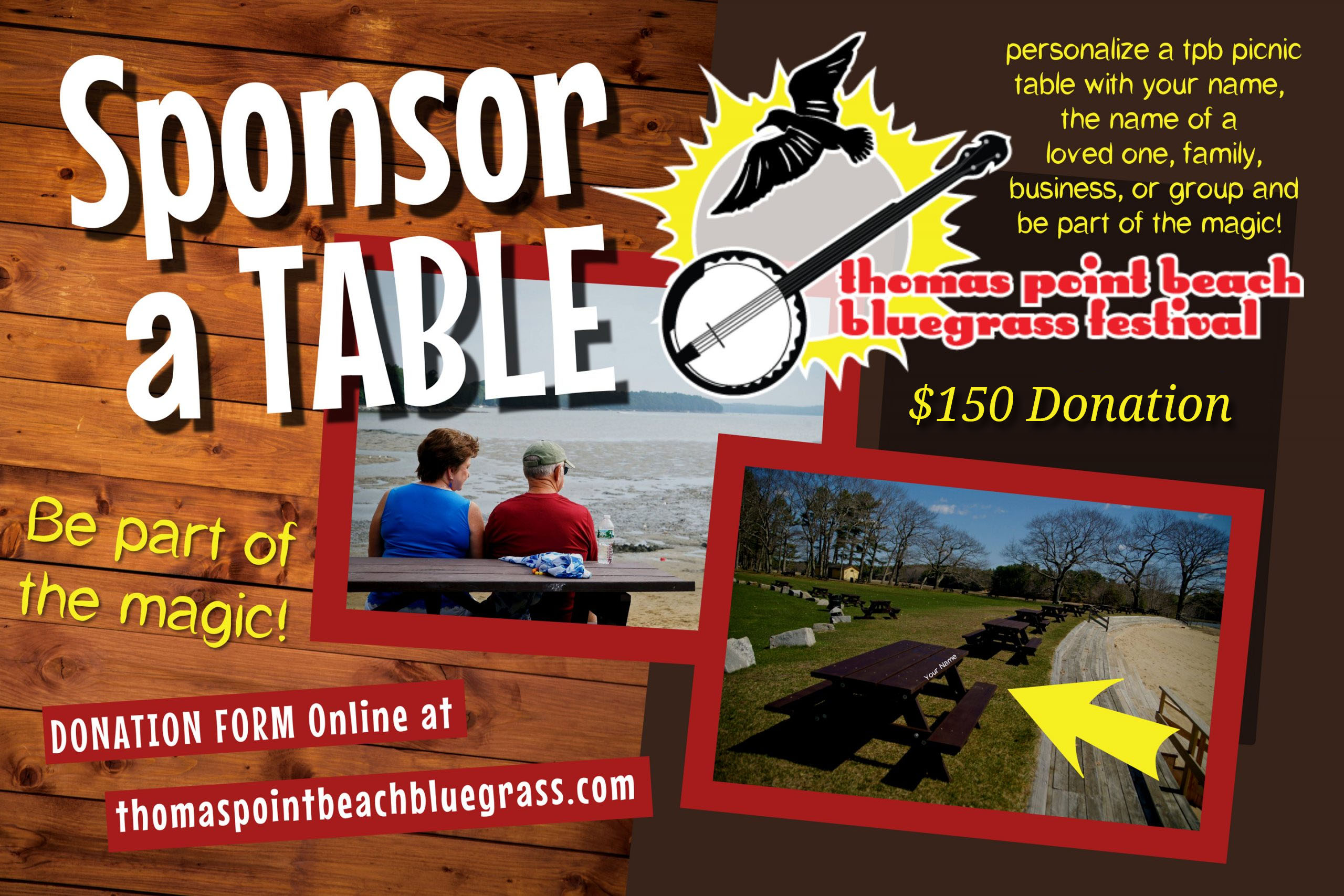Sponsor a Picnic Table